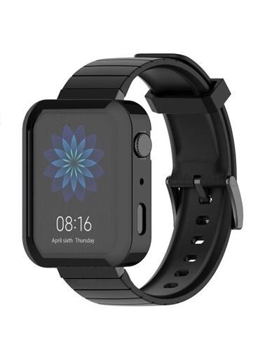 MobilCadde Xiaomi Mi Watch Siyah Silikon Kılıf Siyah